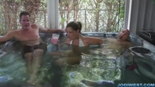 Stepmom game plays dangerous a bikini threesome