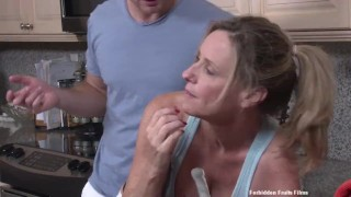 Stuck   big tits cumshot kitchen shaved tight mother orgasm doggystyle rough sex huge ass fake tits forbiddenfruitfilms huge tits
