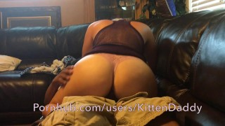 Preview 3 of Sexy Teen Riding BBC And Gets Creampie On Couch - KittenDaddy