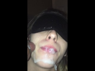 Teen Cumslut Gets 6 Loads All in her Mouth.