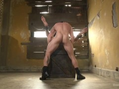 Mr. Ducati's New Fuck Toy is Chained up and Ruthlessly Flogged