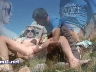 shower cumshot in the montain
