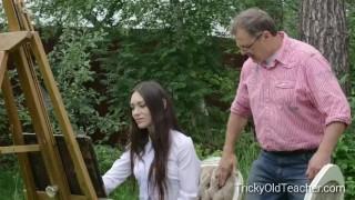 무료 포르노 비디오 - Tricky Old Teacher - Arwen Gold Tricky Old Teacher Innocent Teen Student Fucks Her Perverted At Teacher
