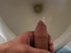 urinal + pee + boy