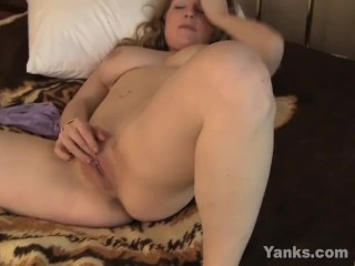 Busty Emily Humping A Pillow