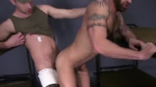 Brandon and Derek Shot military