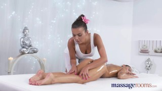 Preview 3 of Massage Rooms Stunning tanned lesbians have intense sensual orgasms