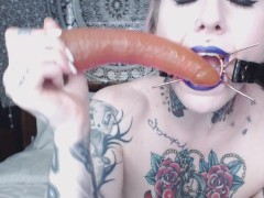 Movie:tattooed sloppy deepthroat wit...