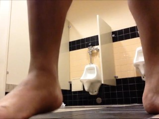 Chub Boy Playing In The School Restroom (Old Video)
