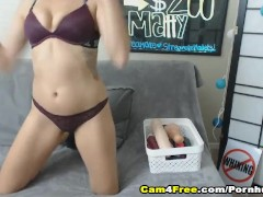 Slutty Chick Gets Dildo Fucking