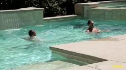 NextDoorBuddies Str8 Buddies Enjoying Pool And Cocks