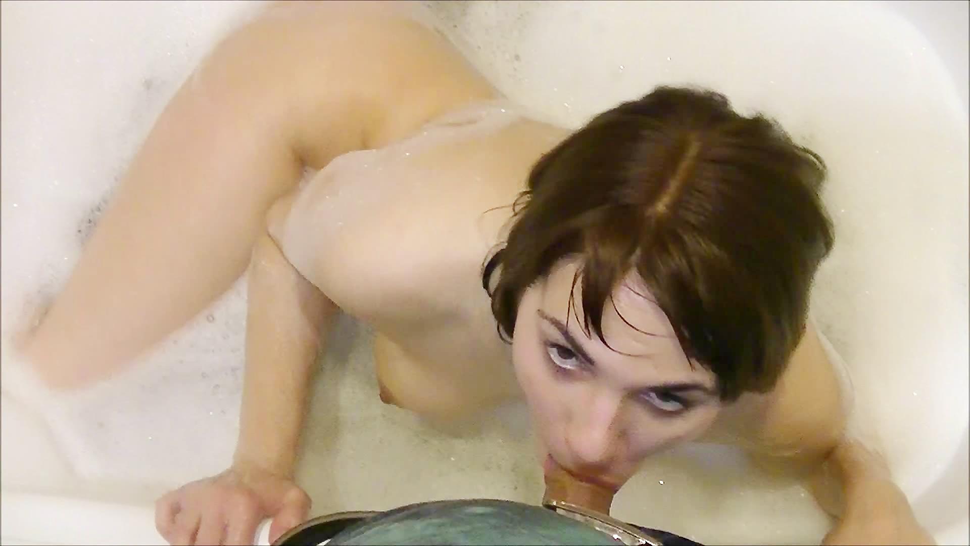 Piercedaspid tongue split cock suck amp cum lick 8