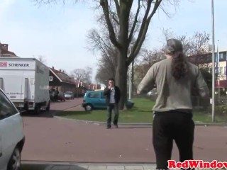 Real amsterdam hooker pussylicked and fucked