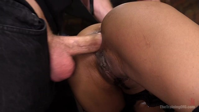 Butt plug stuck in anus Slave training kira noir to fist her own ass