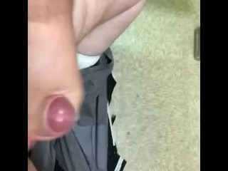 Quick jerk off at work