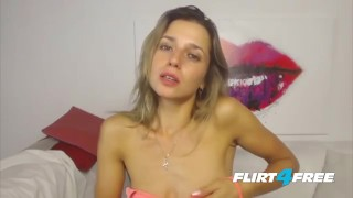 Breathtaking Blonde Mila Pippin Gets Creative With Her Webcam