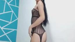 Horny Shemale Fucks Her Dildo