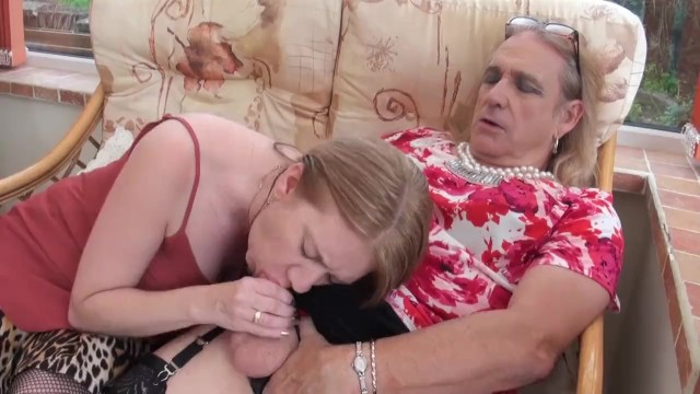 Black cross-dresser sex Cross dresser cathy wanks and cums on lily mays tits then licks it off