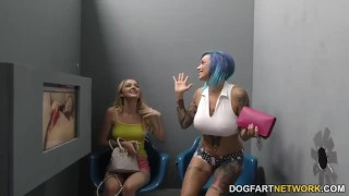 Anna Bell Peaks and Iris Rose suck BBC - Gloryhole 3some young hardcore big black cock big tits mom squirting gloryhole ffm glory hole pornstar mother tattoo threesome interracial dogfartnetwork fetish fake tits busty teenager