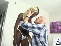 black barbie gets hammered & creampied in Vegas
