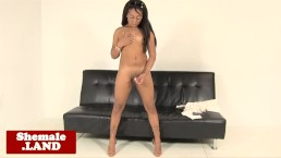 Black tgirl beauty jerksoff her meat shaft