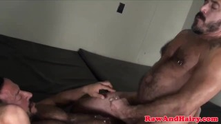 Muscular bears breeding and cocksucking Couple footfriends