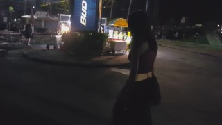 Public pissing sexy palm west amateur in drunk flashing florida blowjob beach slut