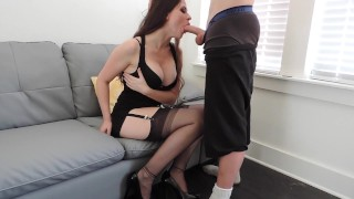 Short BJ Before Party Milf mom