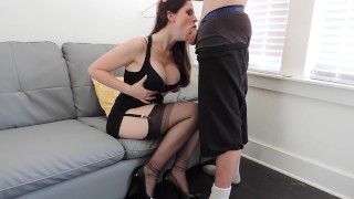Bj before short party blowjob babe