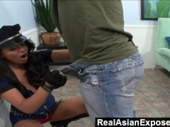 RealAsianExposed - Big Titted Cop Seduced and Fucked