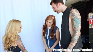 Penny jessie sarah her pax to and bf tricked fuck gets big 3some