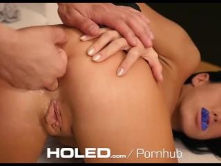 HOLED - Megan Rain rope bondage for hardcore anal