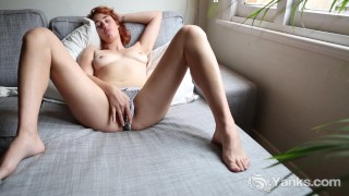 Tall Molly Masturbate Her Bald Quim