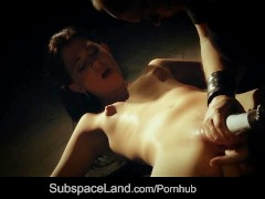 Sexual bondage pain for young slut submitted to humiliation and fuck