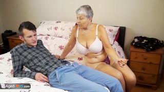 Granny Savana fucked with really hard stick