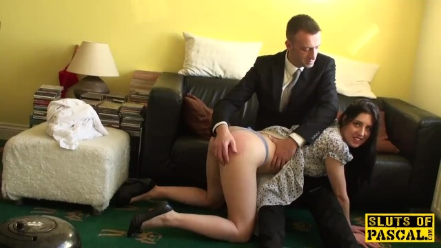 English sub cockriding after getting spanked - 3 part 1
