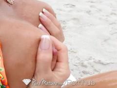 PureMature – Stranger picks up fit milf Nina Dolci at the beach
