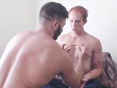Two Trannies Fucking, FTM gets fucked by MTF girlfriend, lots of oral first
