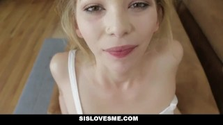 SisLovesMe - Annoying Sis Wants My Attention  step-siblings step-brother point-of-view blonde cumshot pov skinny small-frame petite step-sister step-sis sislovesme facialize bigcock facial angel-small