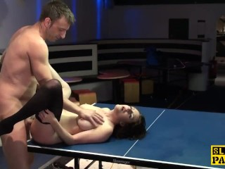 Brit sub slut squirting after getting spanked