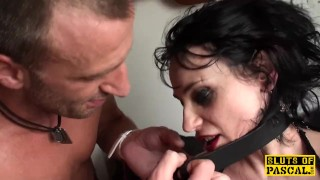 British bdsm sub roughfucked and fingered
