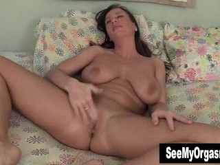 Busty Cherry Masturbating In The Bedroom