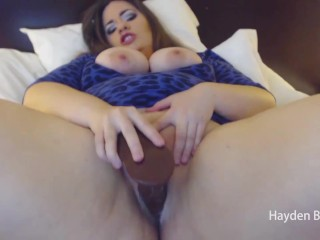 Riding And Fucking My Big Black Cock Dildo by Hayden Blue
