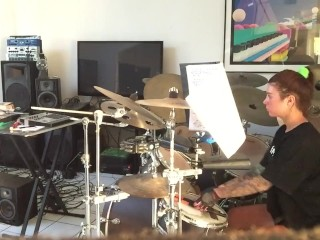 Felicity Feline Practicing Drums and Gets Interrupted by Landlord