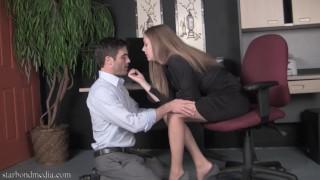 Femdom Secretary  kink nylon feet worship femdom secretary