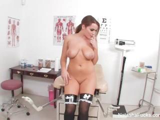 Natasha Nice masturbates in the doctor's office