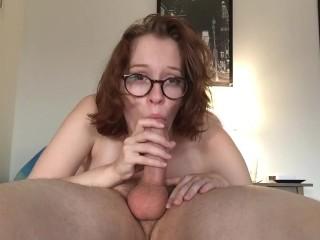 Girlfriend amateur blowjob POV