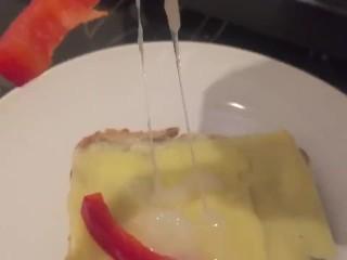 Cumming on food