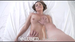 Massage up wet harper lubed pussy oiled with dillion and fuck raven harper