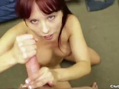 Redhead milf POV handjob